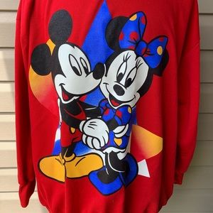 Disney Mickey and Minnie vintage 90s Sweatshirt 2X